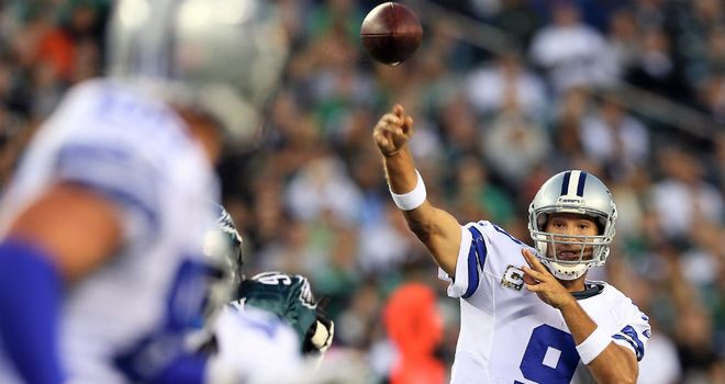 Tony Romo: Threw two touchdown passes for the Dallas Cowboys