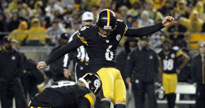 Shaun Suisham: Kicked the winning field goal for the Pittsburgh Steelers