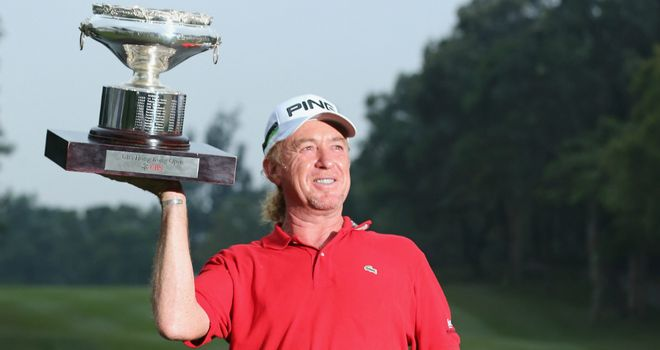 Miguel Angel Jimenez: Spanish golfer injured in skiing accident