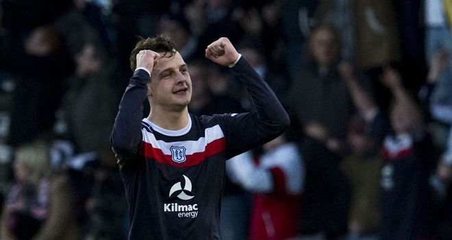 Kyle Benedictus: Celebrates his opener for Dundee