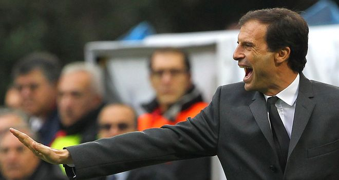 Massimiliano Allegri: Takes his side to Pescara