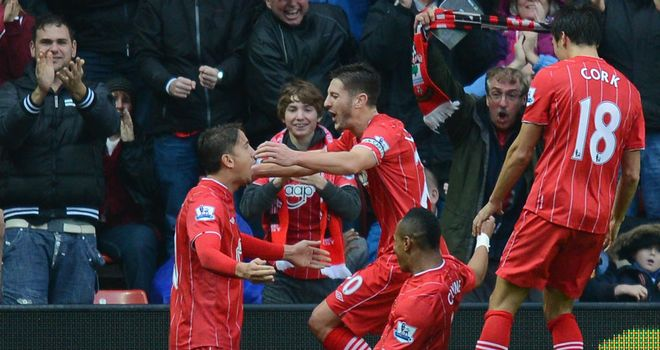 Adam Lallana: Congratulated after opening the scoring