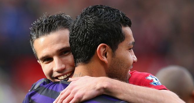 Andre Santos: Exchanged shirts with Van Persie at half-time on Saturday
