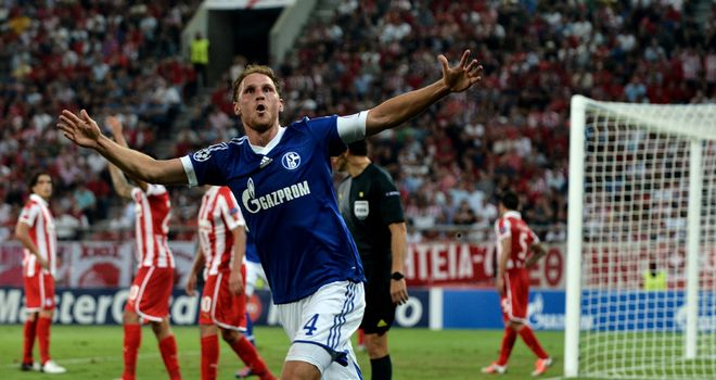 Benedikt Howedes was on target for Schalke against Montpellier