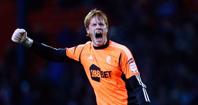 Adam Bogdan: Keeper celebrates Bolton goal