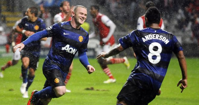 Wayne Rooney celebrates &#39;lucky&#39; penalty success against Braga