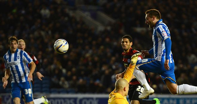 Stephen Dobbie: Scores in Brighton's 1-0 win over Peterborough