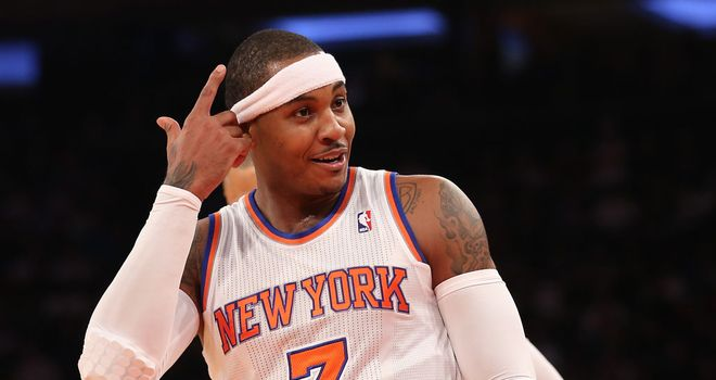 Carmelo Anthony: Led the way with 21 points for the New York Knicks