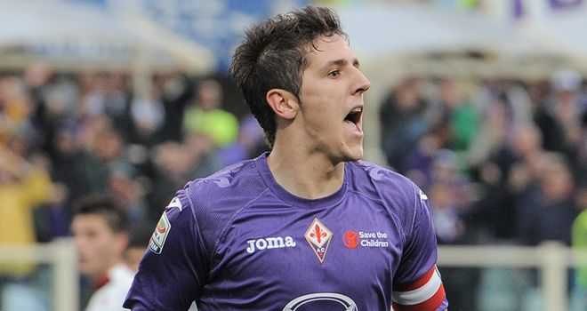 Stevan Jovetic: At the double for Fiorentina