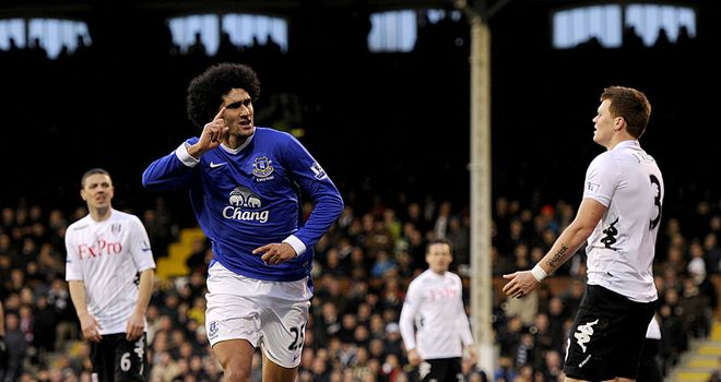Marouane Fellaini has already netted eight goals for Everton