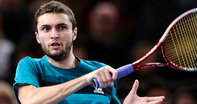 Gilles Simon: will next face fellow Frenchman Benoit Paire in the last eight in Montpellier