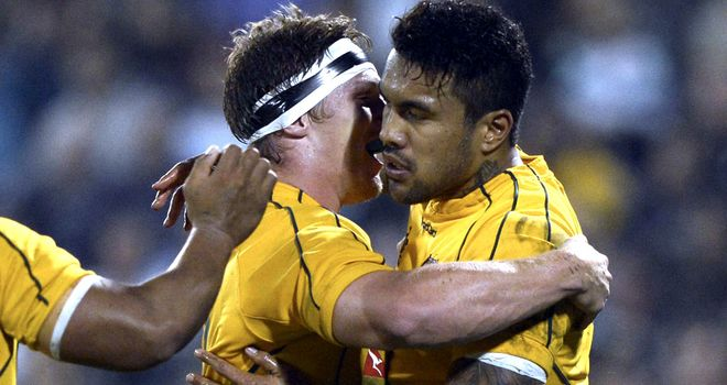 Digby Ioane (R): Back in Wallabies line-up