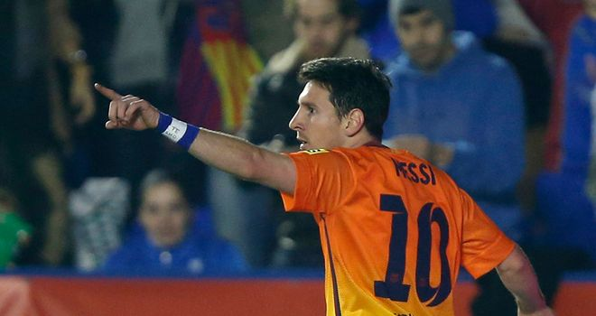 Lionel Messi: Two more goals for Barca