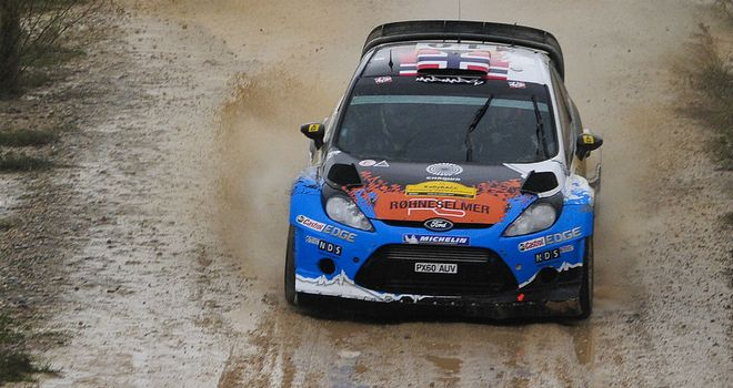 Mads Ostberg: Leads after day one following adverse weather in Spain