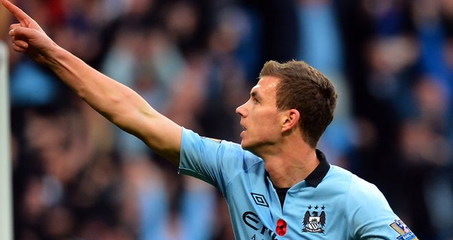 Edin Dzeko: Grabbed a late winner for Manchester City as they edged out Tottenham