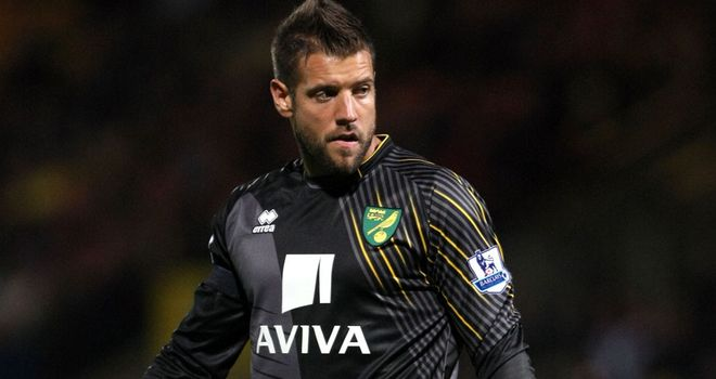 Mark Bunn: Has impressed for Norwich since stepping into Chris Hughton's starting XI