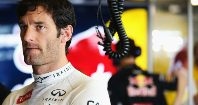 Water leak caused Mark Webber's session to end early