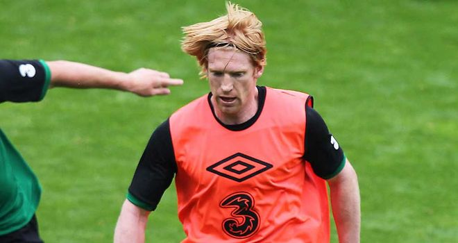 Paul McShane traing with Ireland on Monday