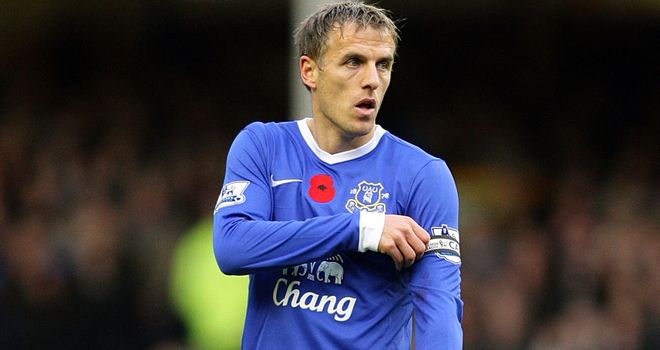 Phil Neville: Sights still firmly set on a place in the top four