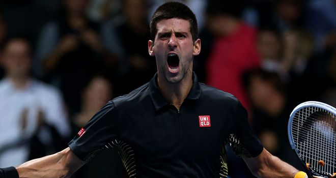 Novak Djokovic: Won the ATP World Tour Finals at the O2 Arena by beating Roger Federer