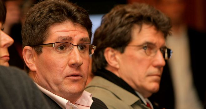 Paul Kimmage (L): Has lodged a criminal complaint against Pat McQuaid and Hein Verbruggen.