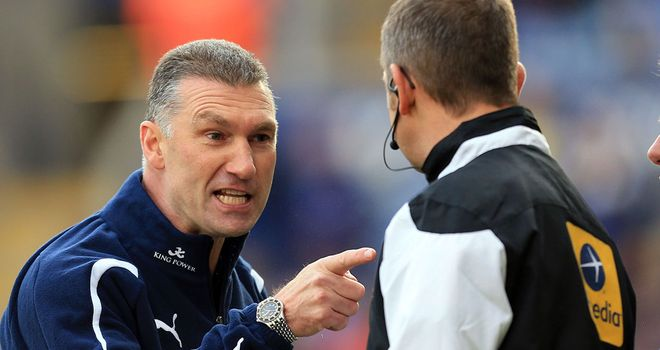 Nigel Pearson: Leicester boss unhappy with referee after 2-2 draw with Nottingham Forest