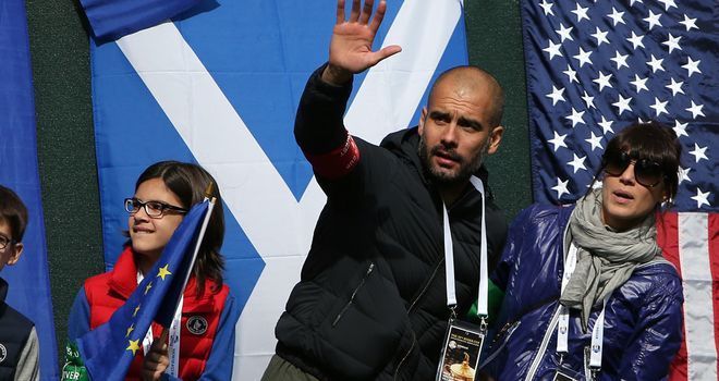 Pep Guardiola: Attracted to football in England