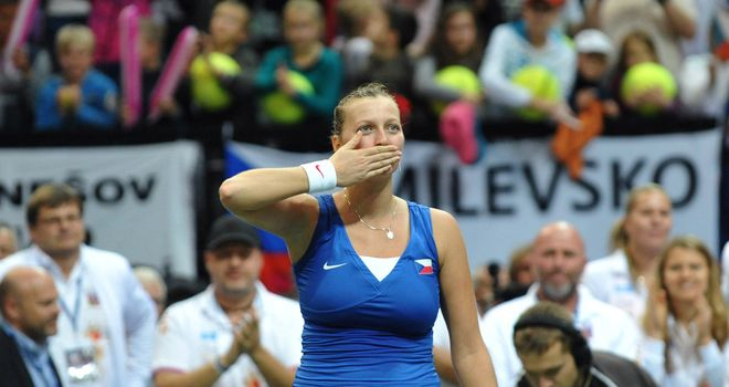 Petra Kvitova: Overcame an early bout of nerves