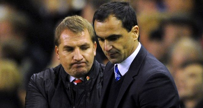 Brendan Rodgers and Roberto Martinez get ready to lock horns again