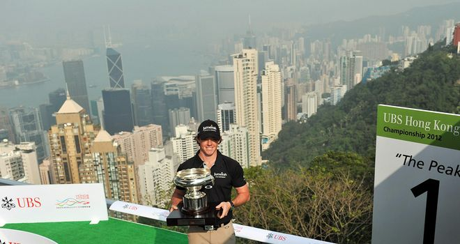 Rory McIlroy: will he be holding the trophy again on Sunday afternoon?
