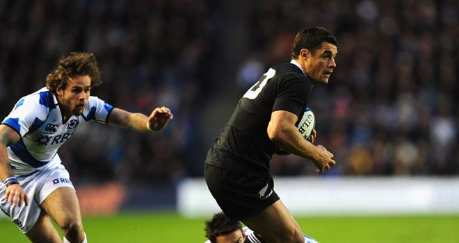 Dan Carter: In action in New Zealand's 51-22 victory over Scotland