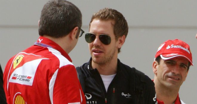 Domenicali says Ferrari aren't - yet - interested in signing Vettel