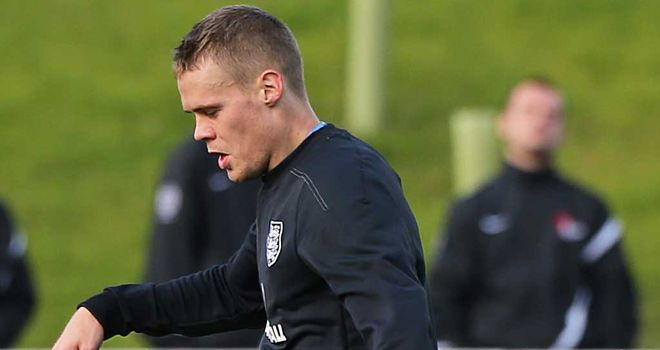 Ryan Shawcross: Training with England