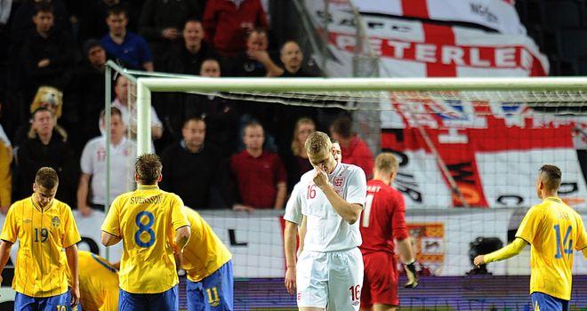 Ryan Shawcross after seeing Zlatan Ibrahimovic equalise for Sweden