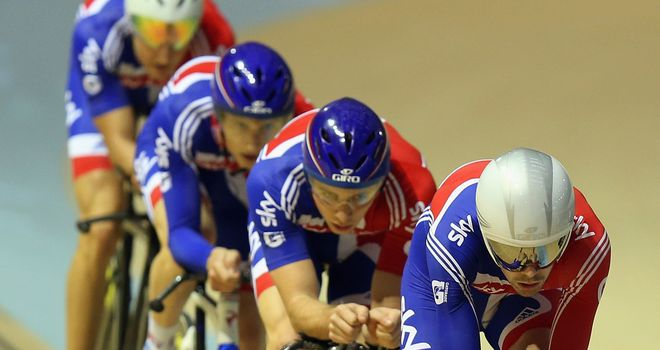 Team pursuit squad: Crash halted the quartet's progress in Glasgow