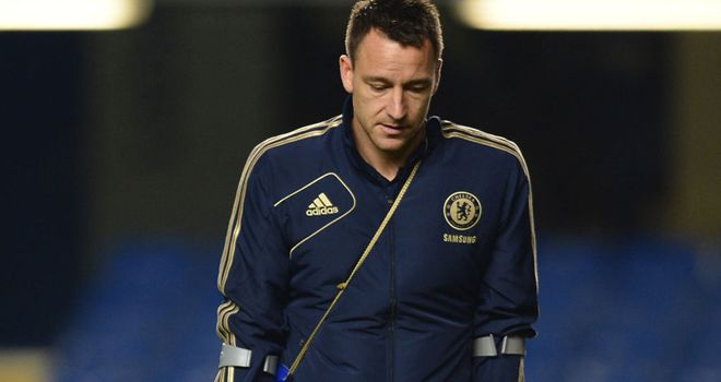 John Terry: Back in training but no definite return date