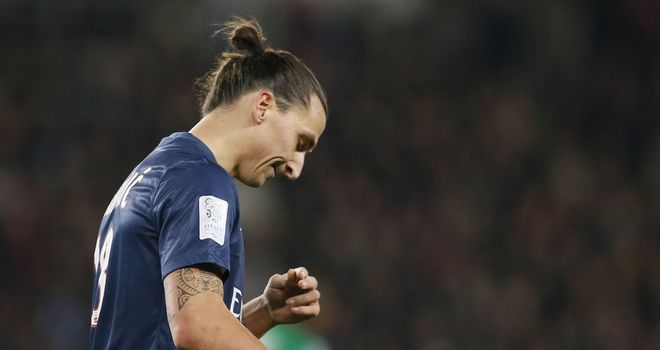 Zlatan Ibrahimovic: Swedish striker sent off as Paris Saint Germain suffer first defeat against St Etienne