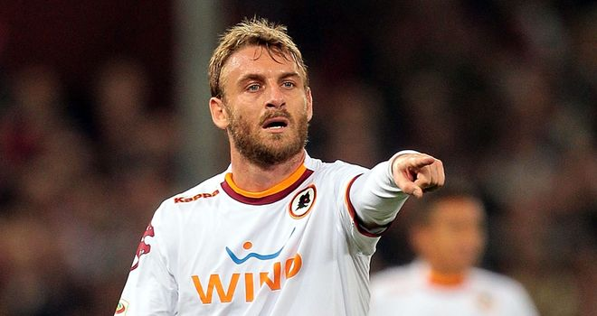Daniele De Rossi: Roma midfielder may still be a target for Manchester City