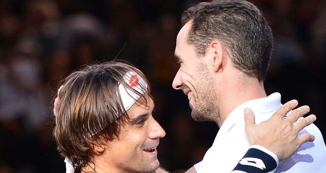 David Ferrer: Overcame a stiff challenge from Michael Llodra in Paris