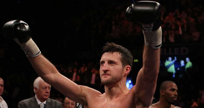 Carl Froch: Nottingham fighter celebrates another successful title defence