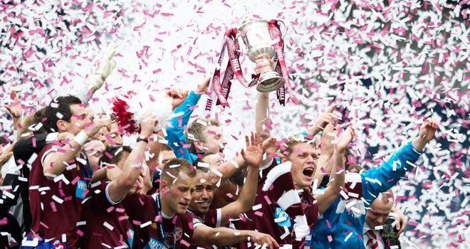 Hearts celebrate Scottish Cup victory in May