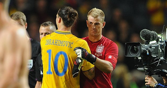 Joe Hart: beaten four times by Ibrahimovic in Sweden on Wednesday