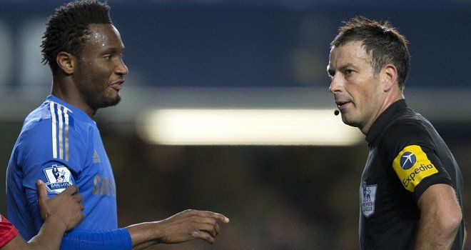 Mikel: Slapped with three-game ban and £60,000 fine for confronting Mark Clattenburg