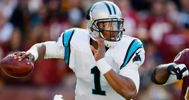Cam Newton: threw for one touchdown and ran for another for the Panthers