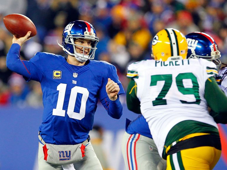 Eli Manning: Threw three touchdown passes for the Giants