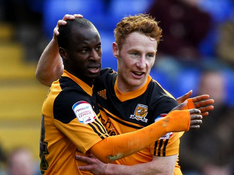 Aluko (left) is enjoying life at Hull City