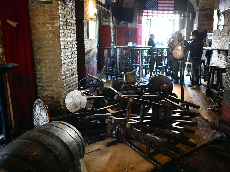 Spurs fans were attacked in the Drunken Ship pub