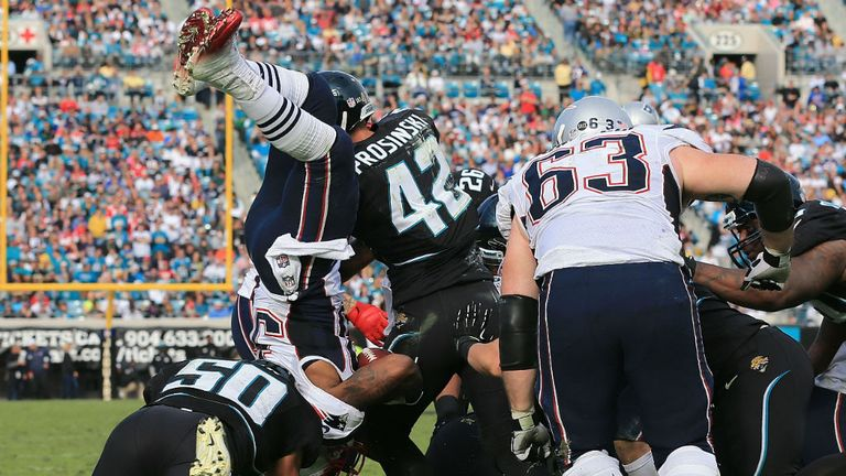 The Patriots pile in on the Jaguars