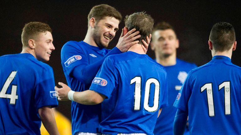 Rangers celebrate beating Annan