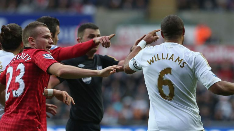 Ashley Williams: Insists he kicked the ball away in frustration